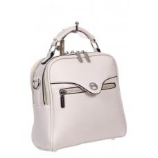 На фото 1 - Рюкзак-трансформер женский из экокожи, цвет белый