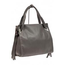 На фото 1 - Большая женская сумка из кожзама, цвет серый