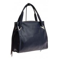 На фото 1 - Большая женская сумка из кожзама, цвет синий