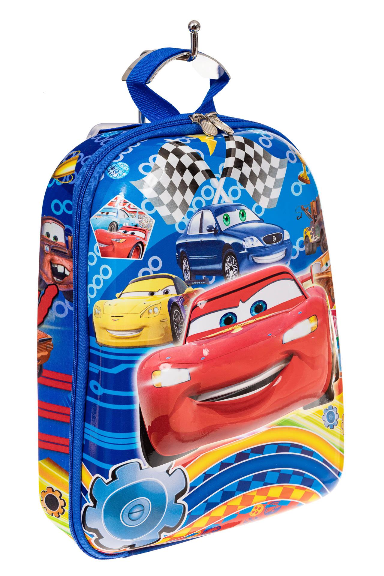 На фото 1 - Детский рюкзак с пластиковой вставкой, цвет синий