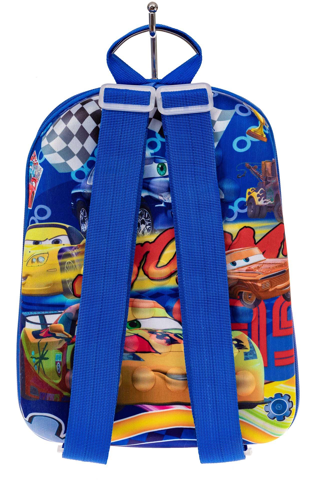 На фото 2 - Детский рюкзак с пластиковой вставкой, цвет синий