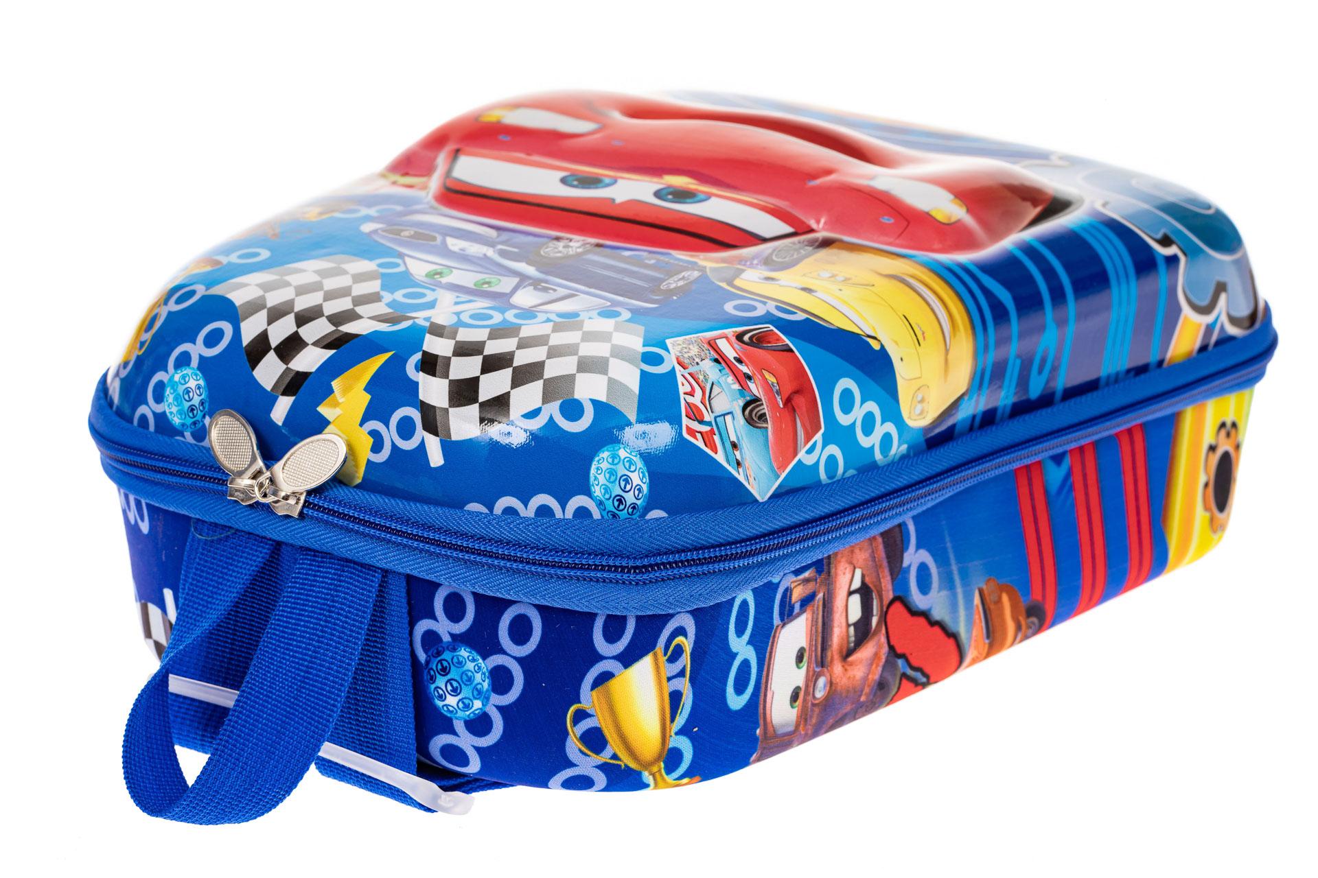 На фото 3 - Детский рюкзак с пластиковой вставкой, цвет синий