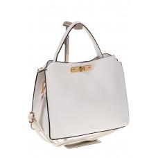 на фото Белая женская сумка из искусственной кожи 1812MJ5