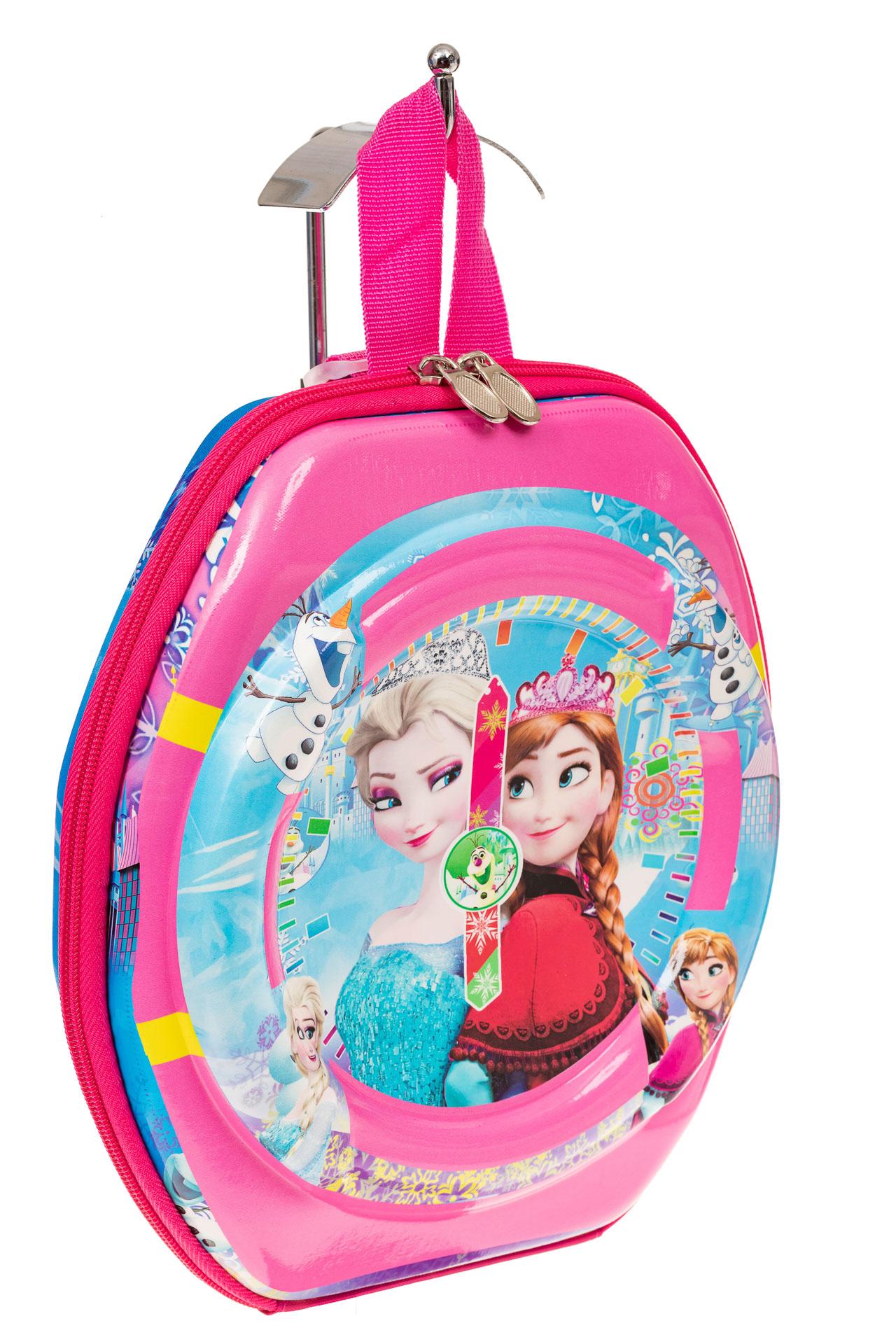 На фото 1 - Маленький детский рюкзачок с ярким дизайном, цвет розовый