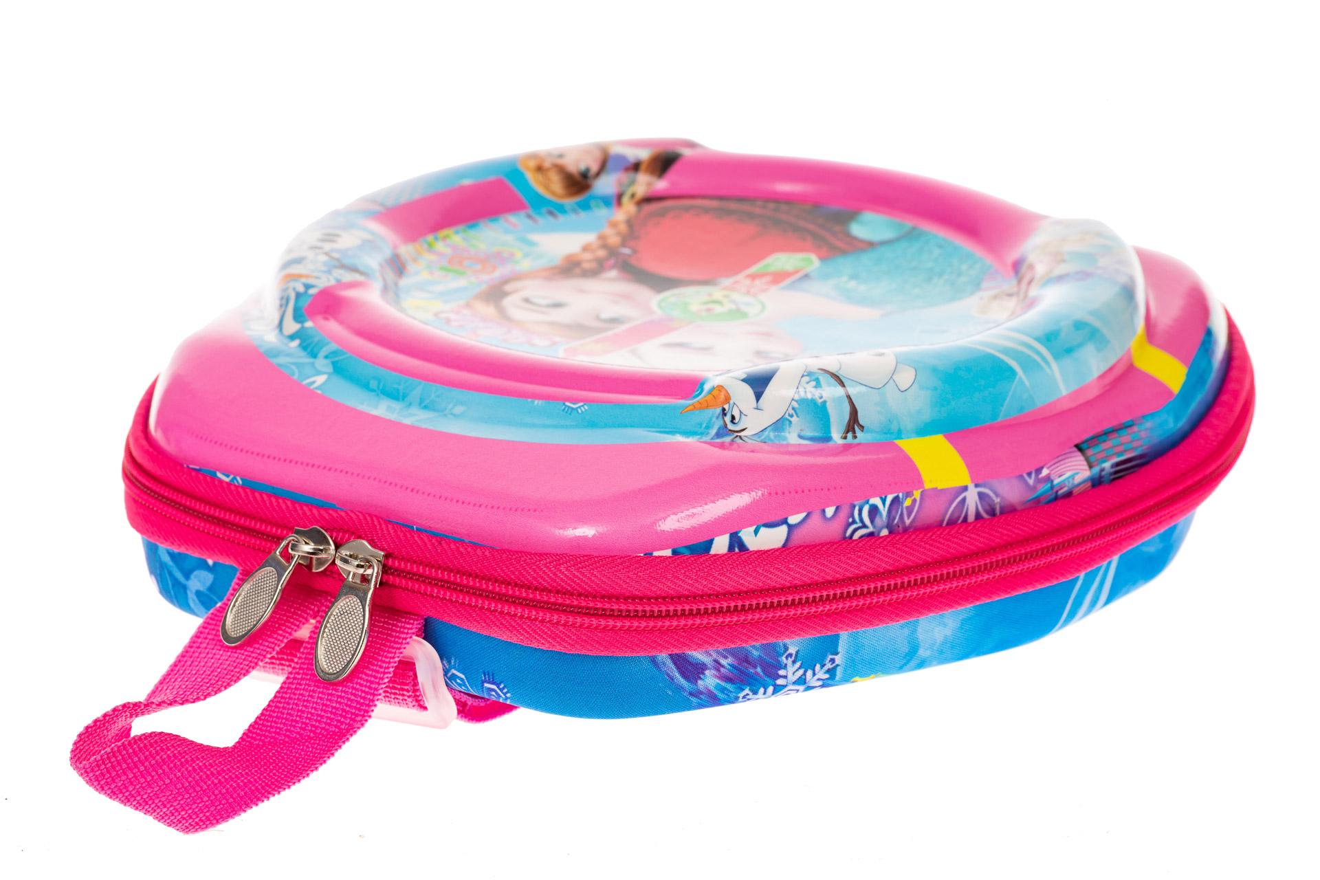 На фото 3 - Маленький детский рюкзачок с ярким дизайном, цвет розовый