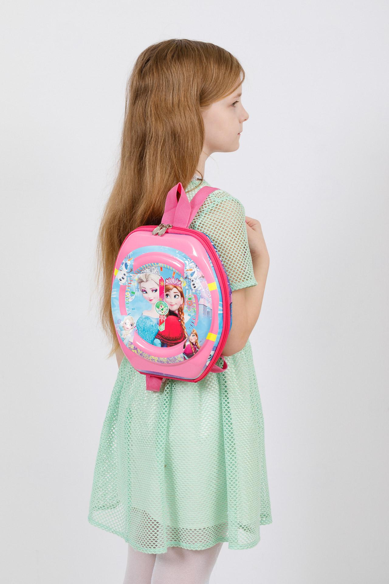 На фото 4 - Маленький детский рюкзачок с ярким дизайном, цвет розовый