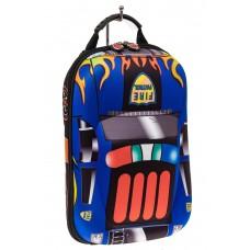 На фото 1 - Детский рюкзак в виде машинки, цвет синий