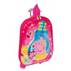 На фото 1 - Плоский детский рюкзачок, цвет розовый с синим