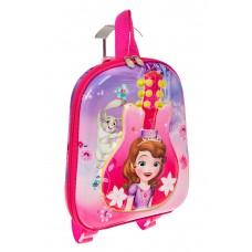 На фото 1 - Плоский детский рюкзачок, цвет розовый с фиолетовым