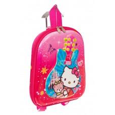 На фото 1 - Плоский детский рюкзачок, цвет розовый с голубым