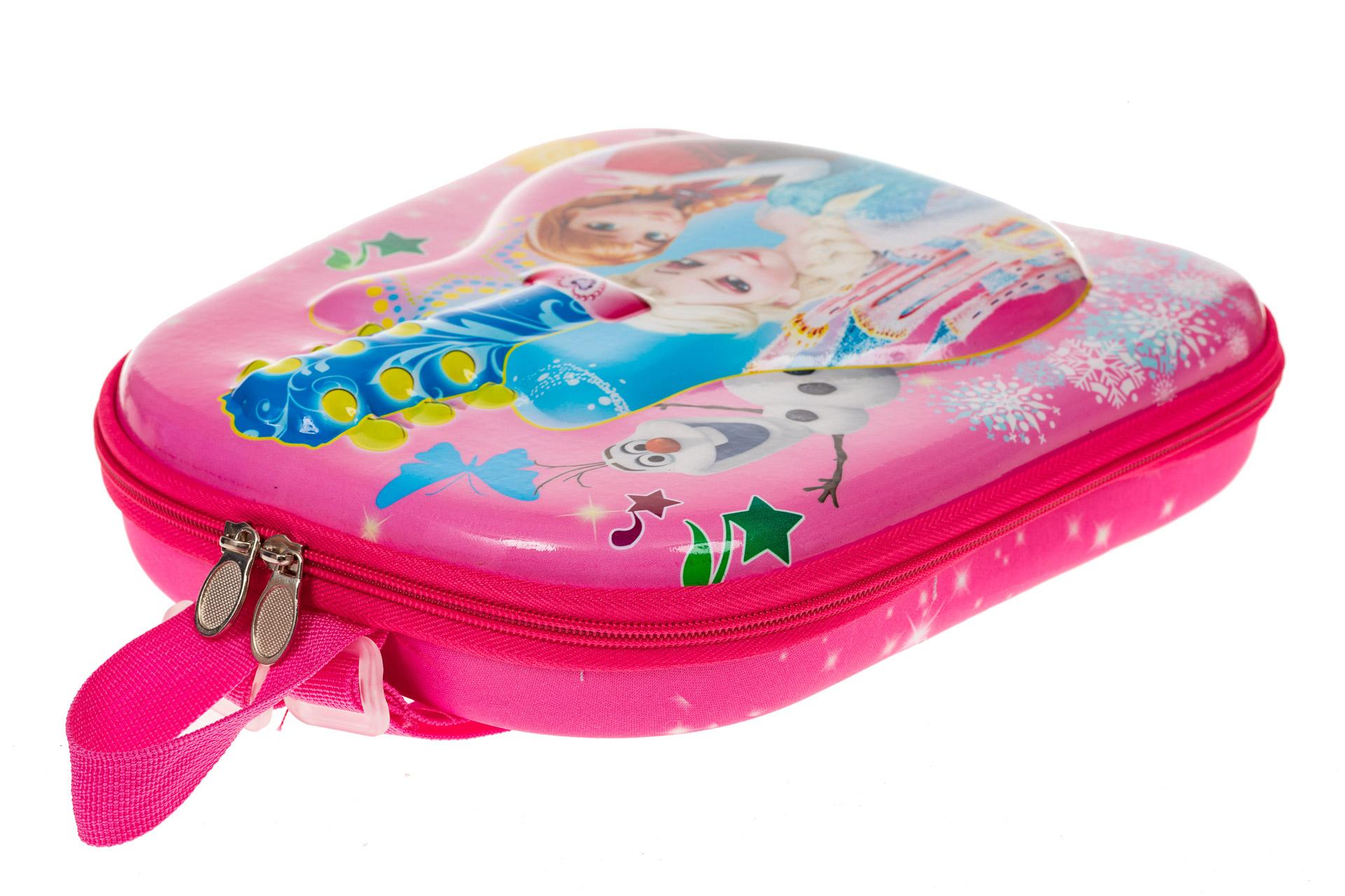 На фото 3 - Плоский детский рюкзачок, цвет розовый