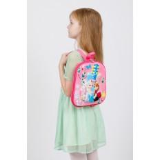 На фото 4 - Плоский детский рюкзачок, цвет розовый