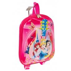 На фото 1 - Плоский детский рюкзачок, цвет фуксия
