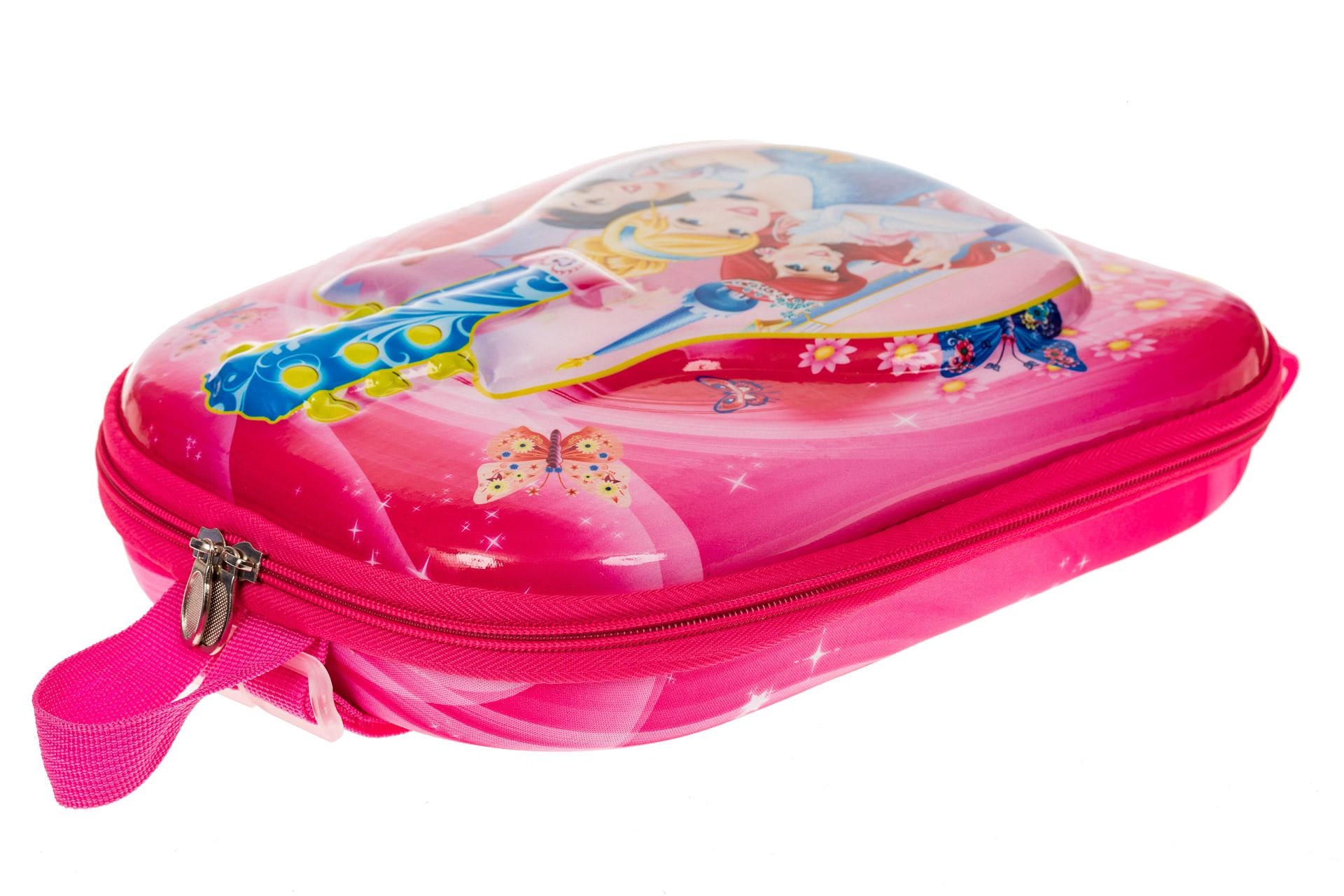 На фото 3 - Плоский детский рюкзачок, цвет фуксия