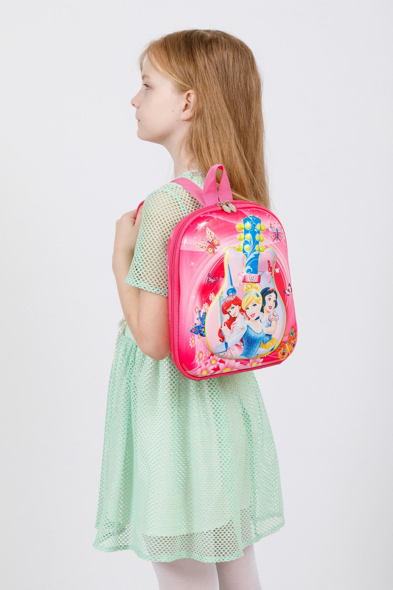 На фото 4 - Плоский детский рюкзачок, цвет фуксия