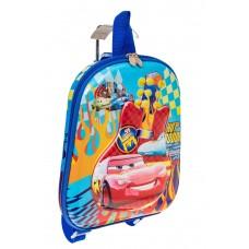 На фото 1 - Плоский детский рюкзачок, цвет синий с розовым