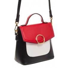 Черная/красная/белая сумка с кольцом из эко-кожи 1817 для оптовиков