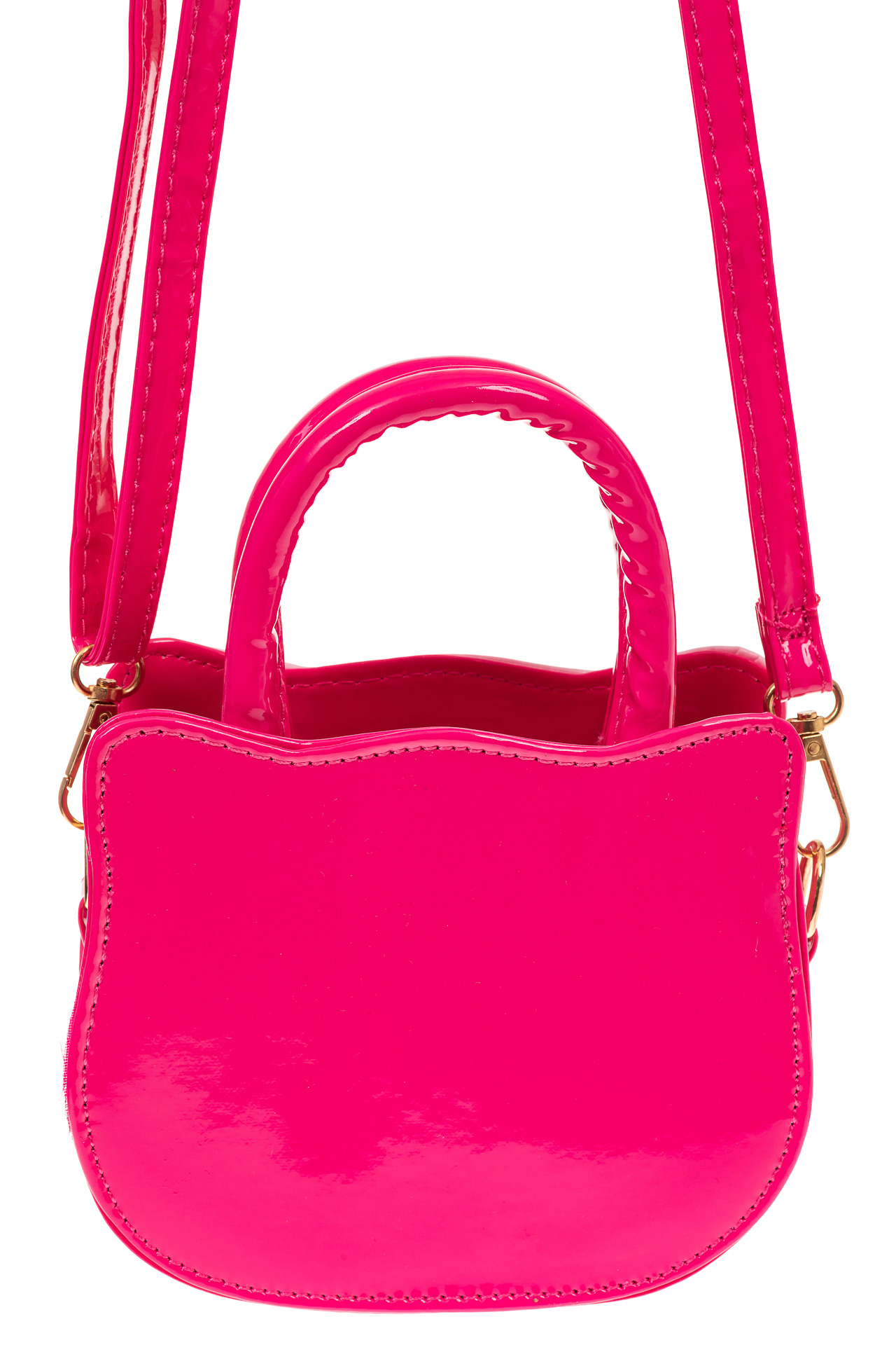 На фото 2 - Сумка для девочки с принтом, цвет ярко-розовый