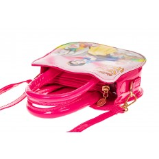 На фото 3 - Сумка для девочки с принтом, цвет ярко-розовый