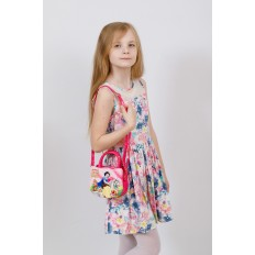 На фото 4 - Сумка для девочки с принтом, цвет ярко-розовый