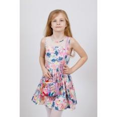На фото 4 - Сумка для девочки с принтом, цвет сиреневый