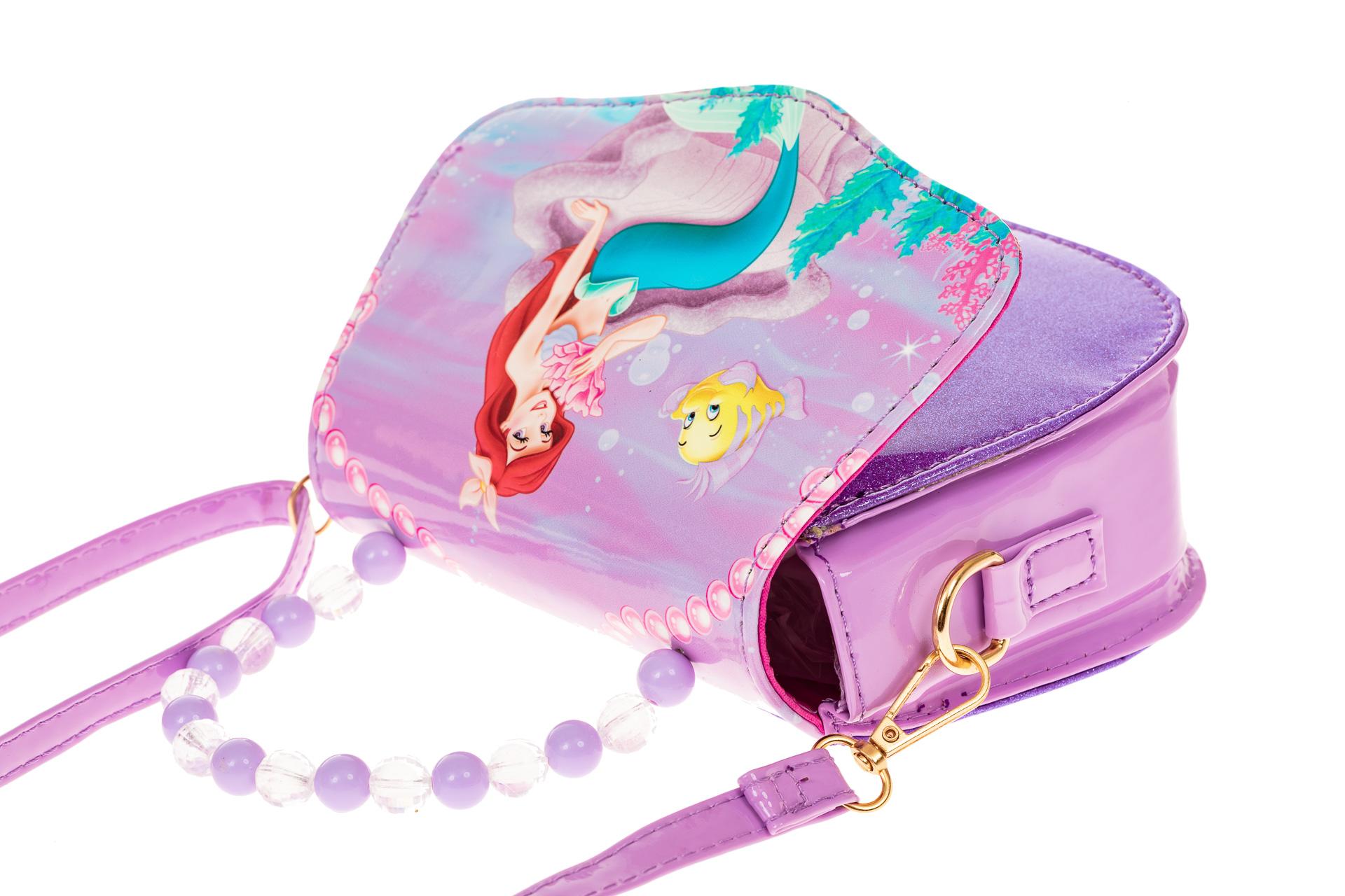 На фото 3 - Сумка для девочки с принтом, цвет нежно-сиреневый