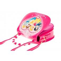 На фото 3 - Сумка для девочки с принтом, цвет фуксия