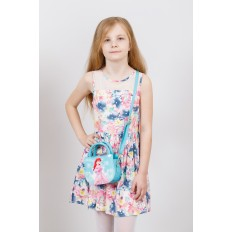 На фото 4 - Сумка для девочки с принтом, цвет бирюза