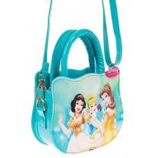 На фото 1 - Сумка для девочки с принтом, цвет голубой