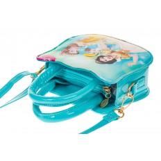 На фото 3 - Сумка для девочки с принтом, цвет голубой