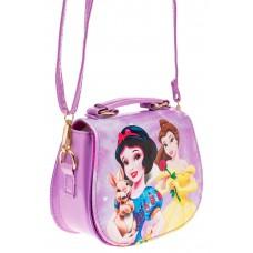 На фото 1 - Сумка для девочки с принтом, цвет фиолетовый