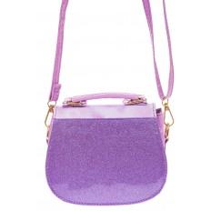 На фото 2 - Сумка для девочки с принтом, цвет фиолетовый