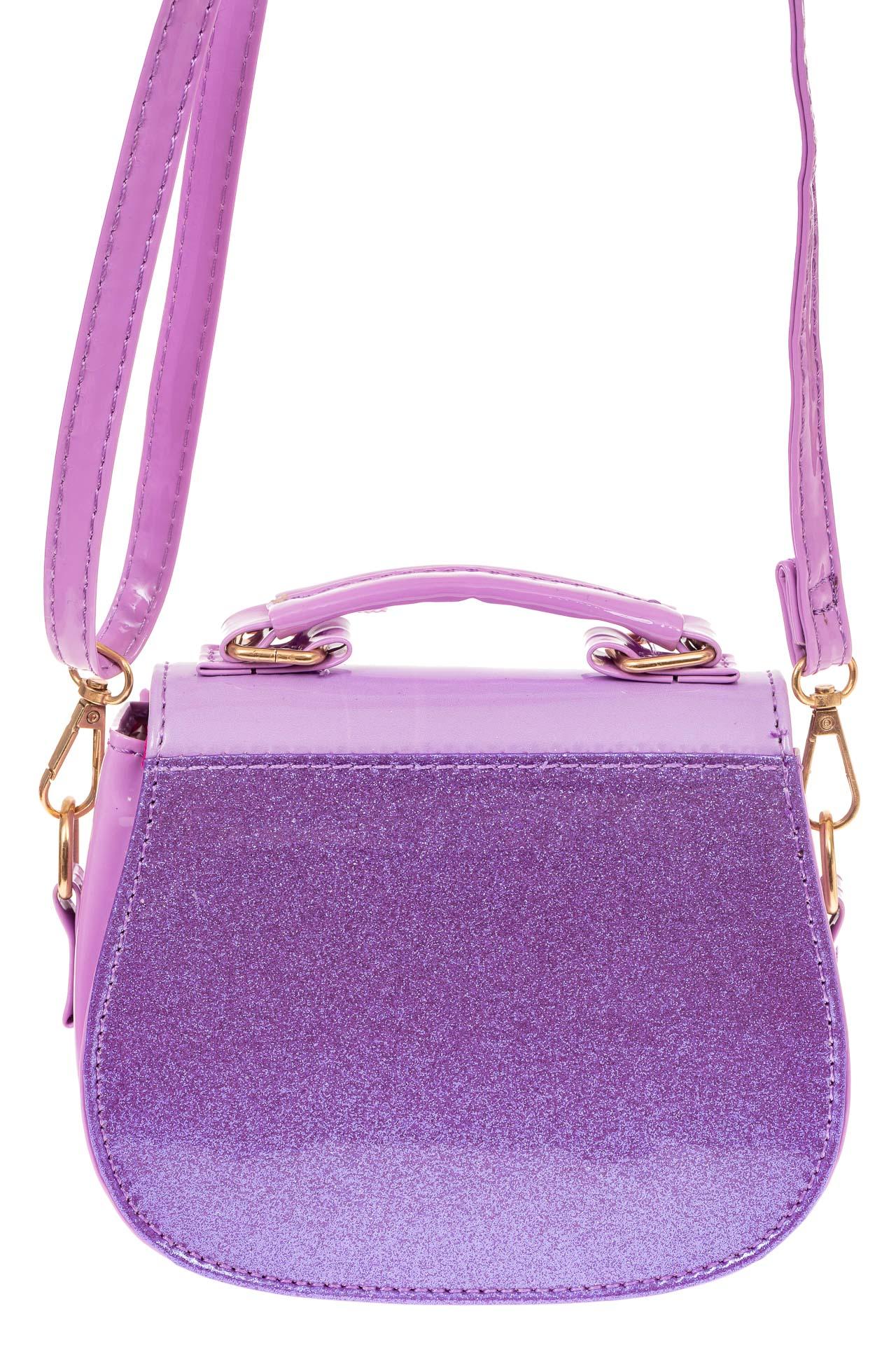 На фото 2 - Сумка для девочки с принтом, цвет нежно-фиолетовый