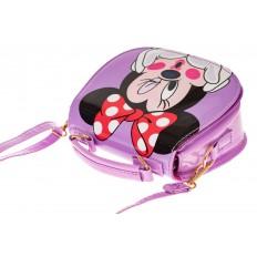 На фото 3 - Сумка для девочки с принтом, цвет нежно-фиолетовый