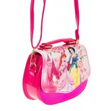 На фото 1 - Сумка для девочки с принтом, цвет розовый