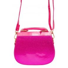 На фото 2 - Сумка для девочки с принтом, цвет розовый