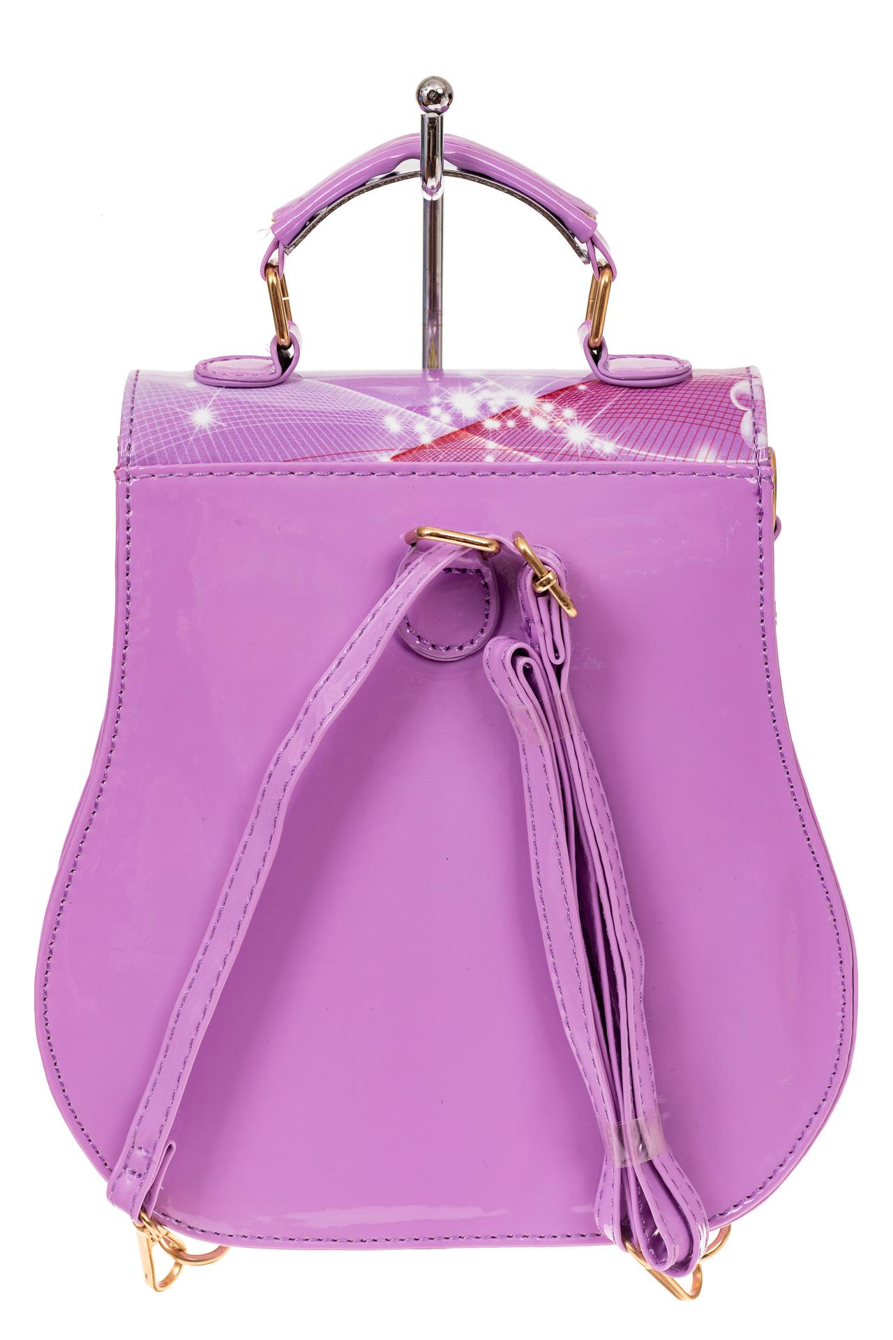 На фото 2 - Детский рюкзак-трансформер, цвет фиолетовый