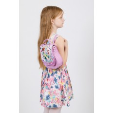 На фото 4 - Детский рюкзак-трансформер, цвет фиолетовый