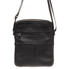 На фото 2 - Мужская сумка планшет из натуральной кожи, цвет черный