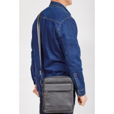 На фото 4 - Мужская сумка планшет из натуральной кожи, цвет черный