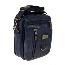 На фото 1 - Маленькая мужская сумка из брезента, цвет графитовый