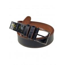 На фото 1 - Кожаный тёмно-коричневый ремень для мужчин