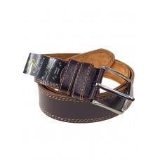 На фото 1 - Кожаный ремень для мужчин, цвет шоколад