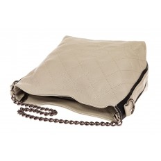 На фото 3 - Небольшая сумка из натуральной кожи, цвет серо-белый