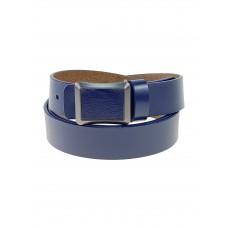 На фото 1 - Кожаный женский ремень, тёмно-синий цвет