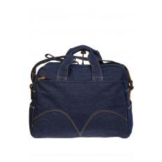 На фото 2 - Женская сумка из джинсовой ткани синего цвета