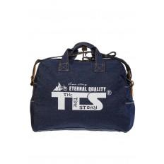 На фото 3 - Женская сумка из джинсовой ткани синего цвета