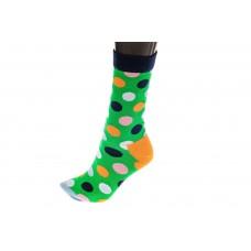 На фото 1 - Носки женские с высокой резинкой, хлопок-полиамид-эластан, цвет зеленый