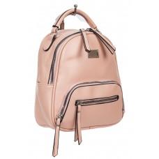 На фото 1 - Женский рюкзачок-трансформер из экокожи, цвет розовый