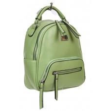 На фото 1 - Женский рюкзачок-трансформер из экокожи, цвет зелёный